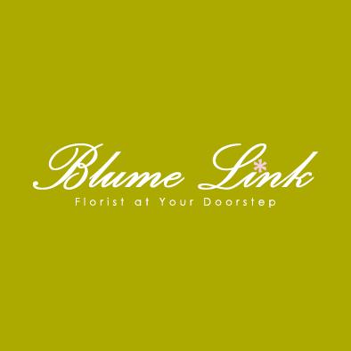 blume link logo florist flower white pink