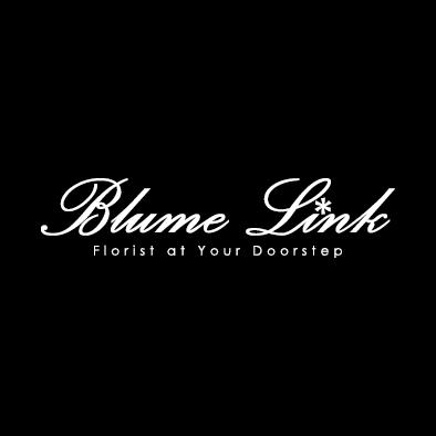blume link logo florist flower white