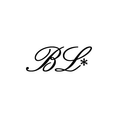 blume link monogram b l florist flower black