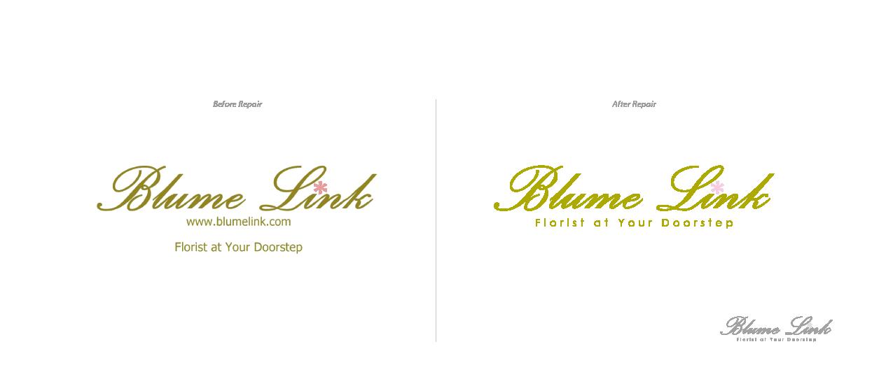 florist logo repair blume link