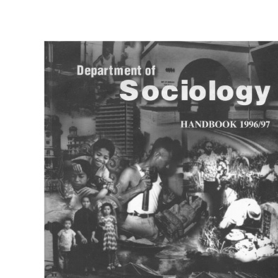 nus department of sociology soci 50 course pack notebook hanbook cover