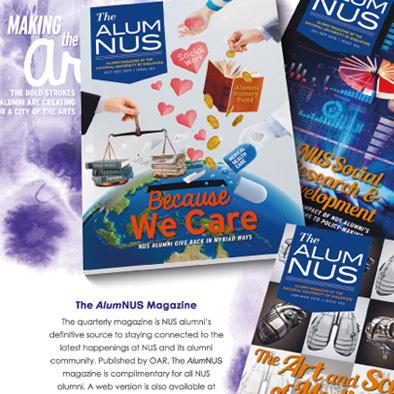 nus office of alumni relations notebook separator alumnus magazine