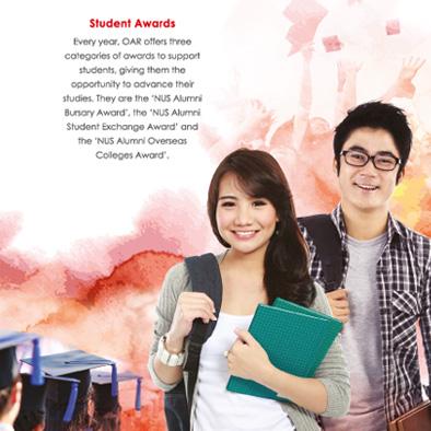 nus office of alumni relations notebook separator student awards