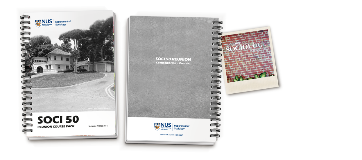 soci 50 reunion course pack notebook design for nus department of sociology
