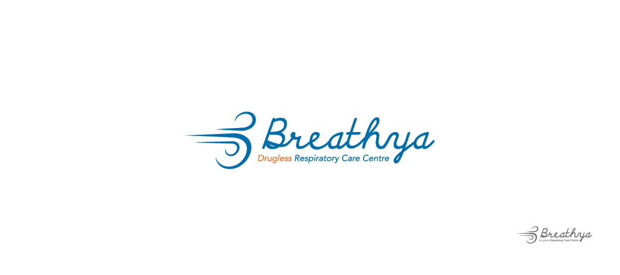 therapy centre logo design breathya