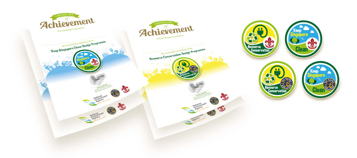 series certificate designs national environment agency