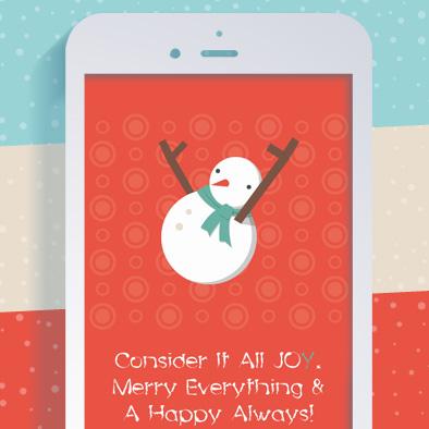 christmas greeting card snowman alphabet letter y