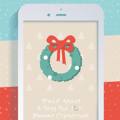 christmas greeting card wreath alphabet letter j