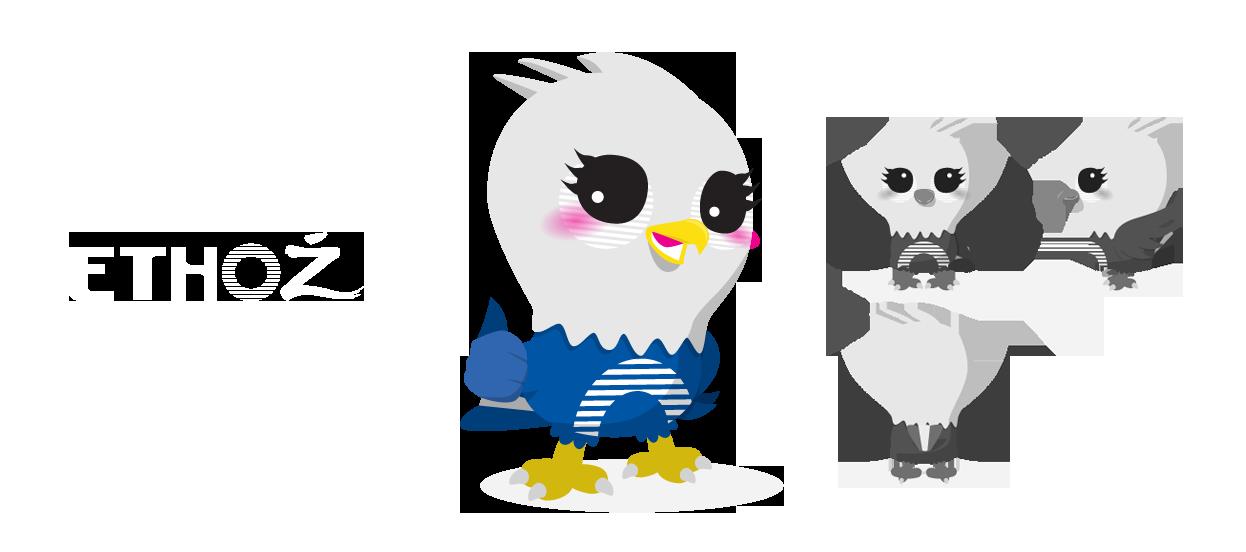 brand mascot design ethoz eagle