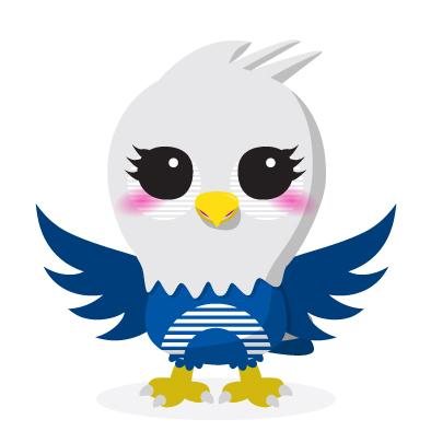 ethoz brand mascot eagle front view