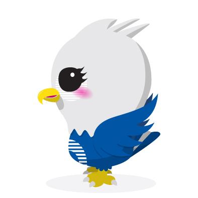 ethoz brand mascot eagle side view