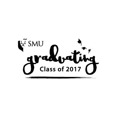 smu graduating class of 2017 logo black