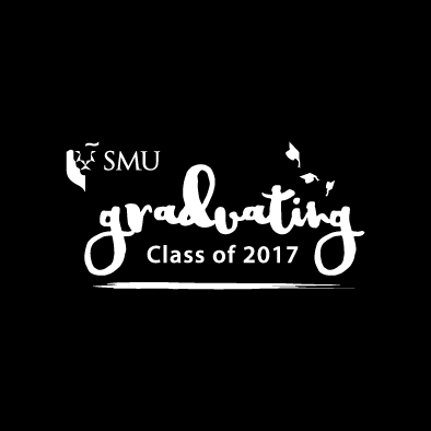 smu graduating class of 2017 logo white