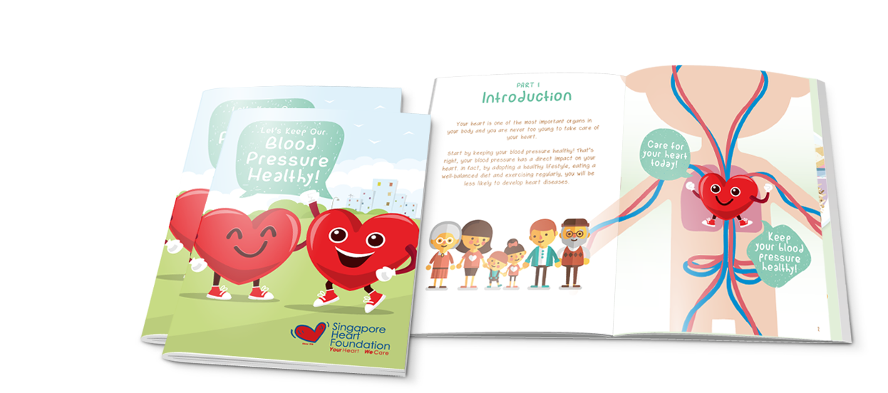 heart health blood pressure handbook design singapore heart foundation