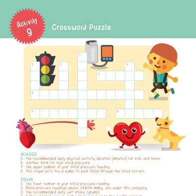 shf singapore heart foundation activity crossword puzzle handbook