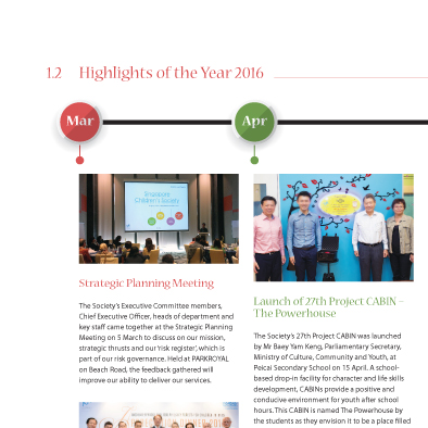 singapore childrens society annual report 2016 design highlights year