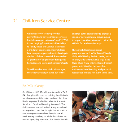 singapore childrens society annual report 2016 design service centre