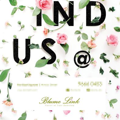 florist poster design find us blume link