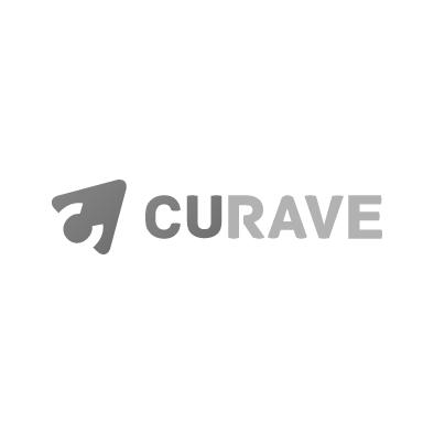 curave gaming platform logo arrow cursor c greyscale