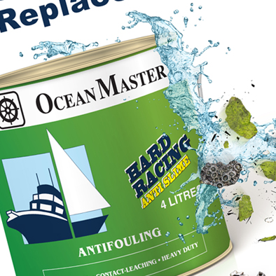 oceanmaster product poster design paint can splash closeup
