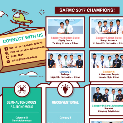 dso national laboratories singapore amazing flying machine competition 2018 brochure design
