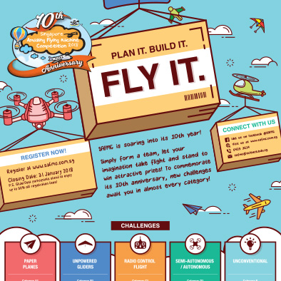 dso national laboratories singapore amazing flying machine competition 2018 poster design