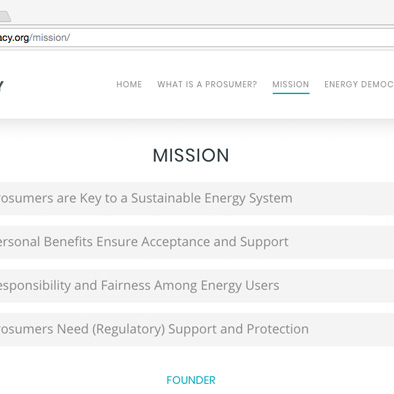 energy democracy website mission