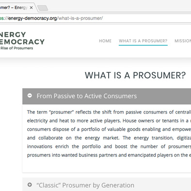 energy democracy website what is a prosumer