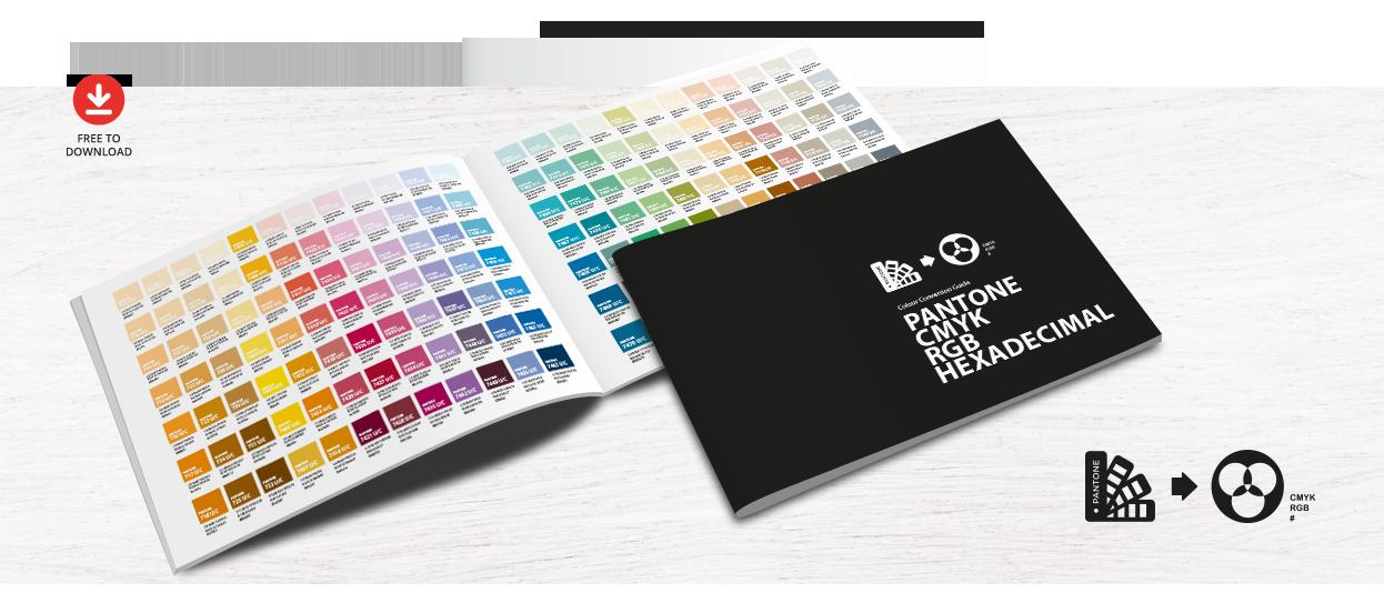 free colour conversion guide pantone cmyk rgb hexadecimal