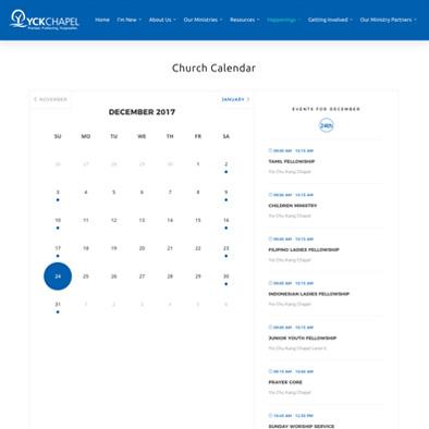 yio chu kang chapel website calendar