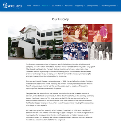 yio chu kang chapel website history