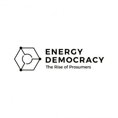 energy democracy logo hexagon circle grid black