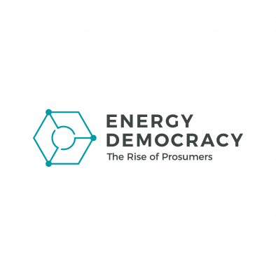 energy democracy logo hexagon circle grid full colour