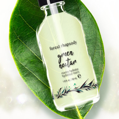 forest rhapsody skincare product label green nectar