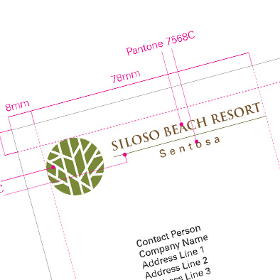 siloso beach resort sentosa brand consultation corporate stationery