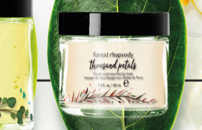 Skincare Product Label Design for Forest Rhapsody