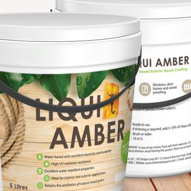 liqui amber 5 litres label design