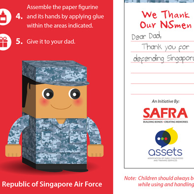 safra foldable paper figurine republic of singapore air force 3d