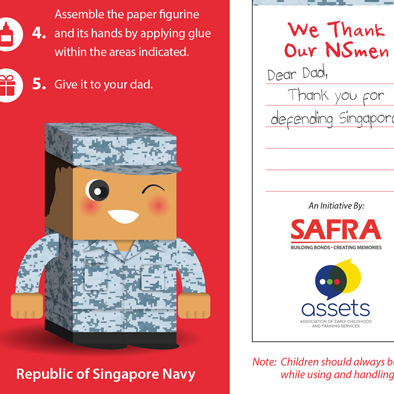 safra foldable paper figurine republic of singapore navy 3d