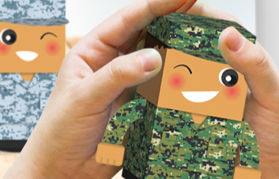 """We Thank Our NSmen"" Foldable Paper Figurines for SAFRA"
