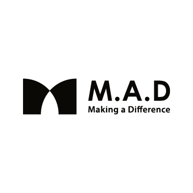 mad financial company logo m a d black horizontal slogan