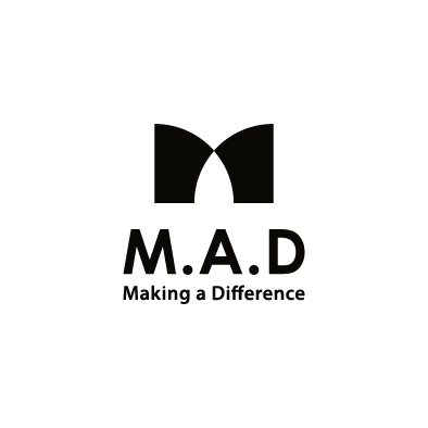 mad financial company logo m a d black vertical slogan