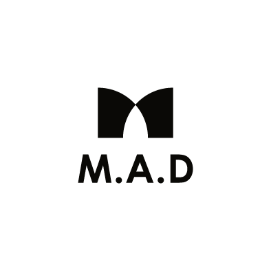 mad financial company logo m a d black vertical