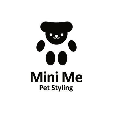mini me logo pet paw black