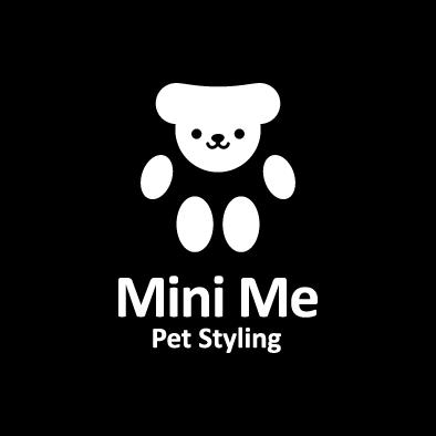 mini me logo pet paw white